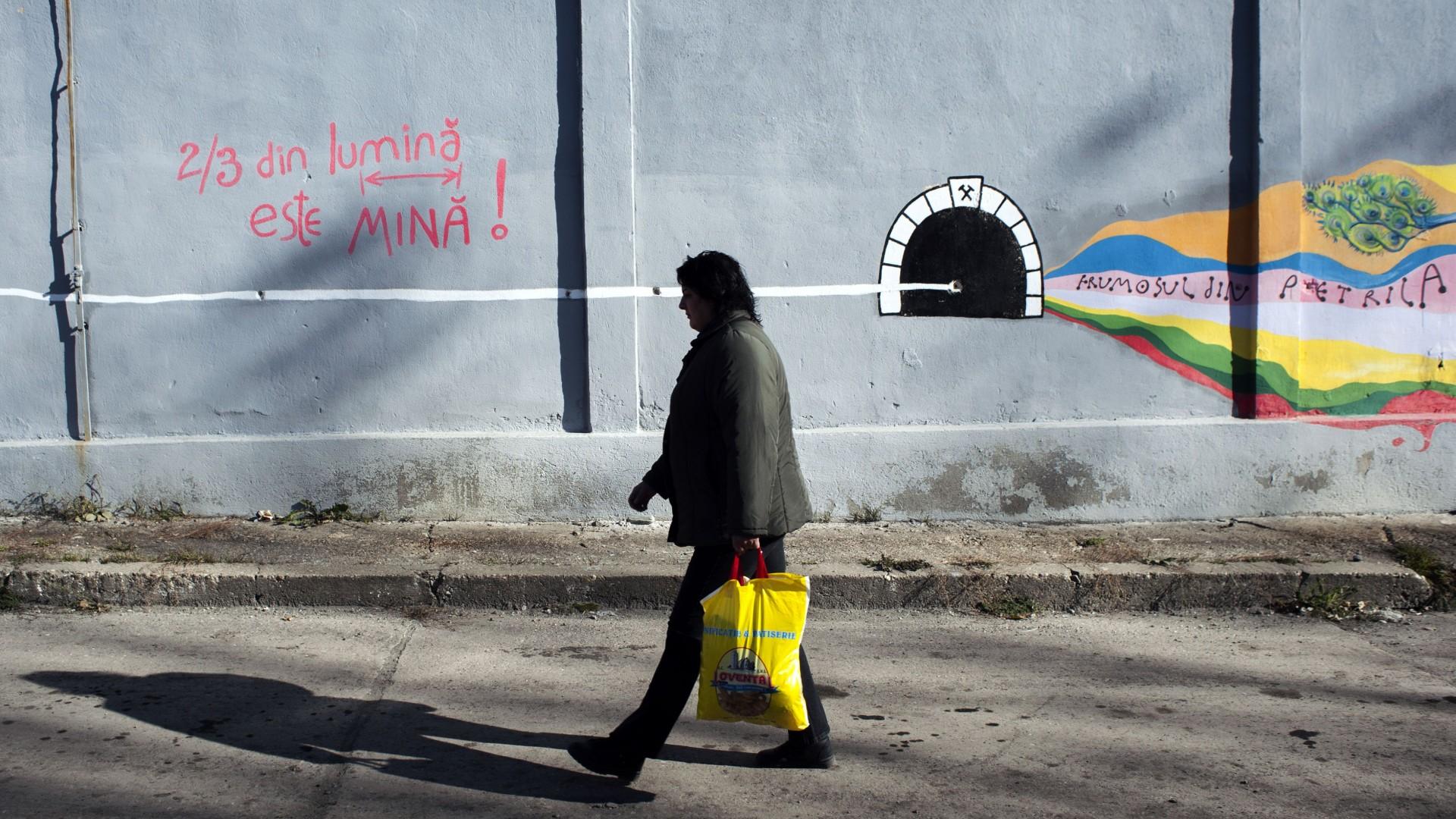 Desen pe zidurile Centrului Pompadou