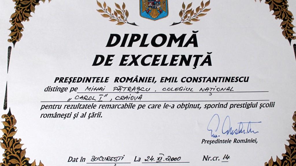 diploma de la Emil Constantinescu