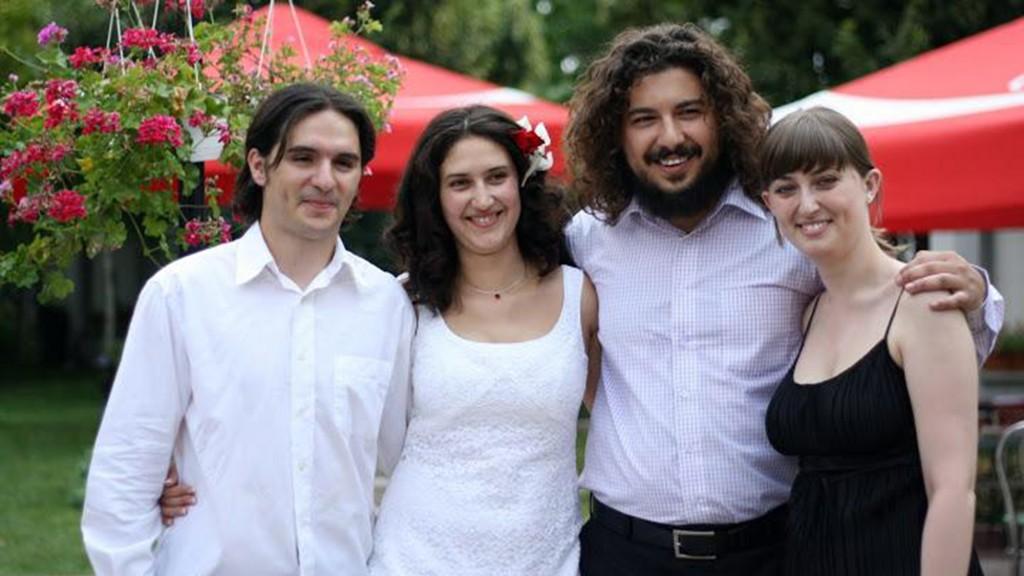 Mira și Mihai, la nunta lor.