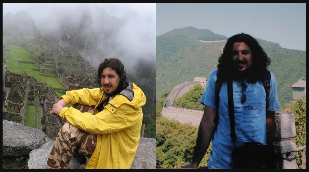 Mihai, în Peru (foto stânga), și în China.